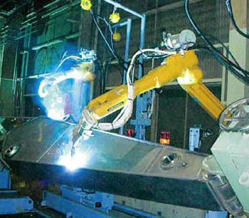 Figure 2: The twin-robot system reduces production time due to simultaneous operations.
