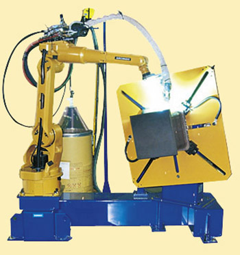 Robotic welding system for core parts/ beam to column joint
