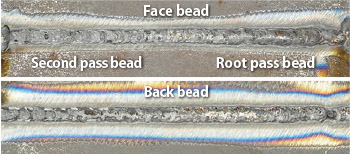 Figure 6: Bead appearance in 1G position
