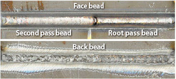 Figure 7: Bead appearance in 3G (uphill) position
