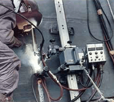 Figure 3: Welding site of SEGARC™ process