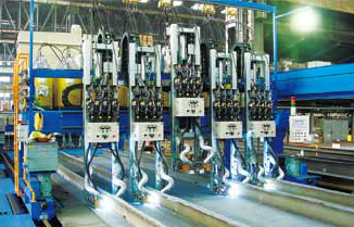 Figure 4: Welding site of TRIFARC™ process