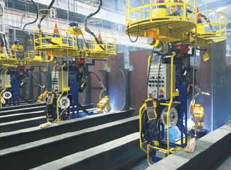 Figure 6: Application of robotic welding system for hull assembly in shipbuilding