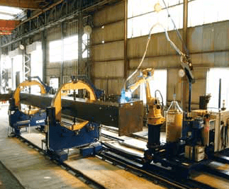 Figure 3-2: Welding system for column large assembly