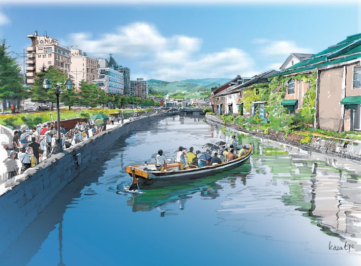 Summer in Nothern Town - Otaru || Japanese Scenery
