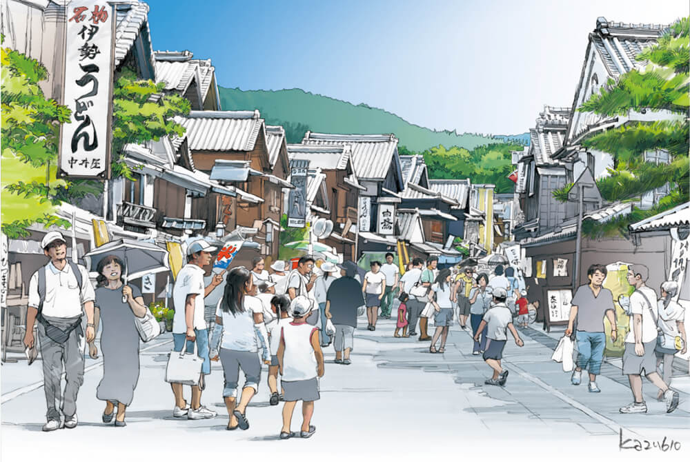 A Shrine Town in Summer: Ise
